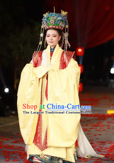 Ancient Chinese Empress Embroidered Wedding Clothing Traditional Ming Dynasty Court Queen Historical Costumes Complete Set