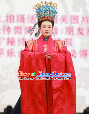 Chinese Ancient Empress Wedding Red Clothing Traditional Ming Dynasty Court Queen Historical Costumes Full Set